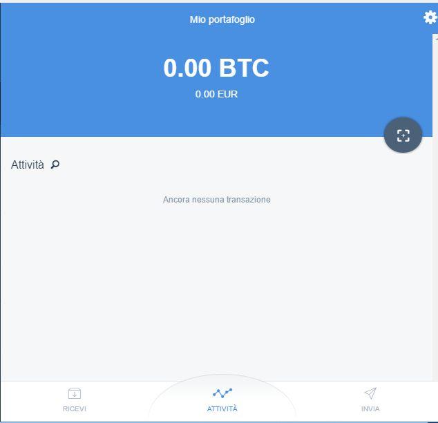 indirizzo bitcoin copay