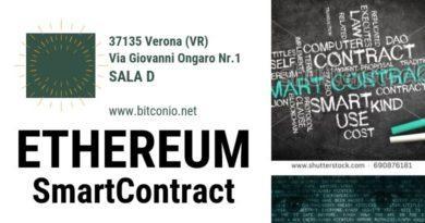 EVENTO PUBBLICO – ETHEREUM e Smart Contract 31 OTTOBRE ORE 19